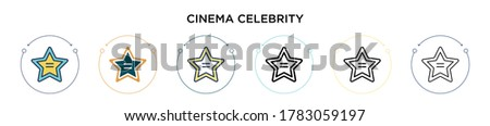 cinema celebrity icon in filled