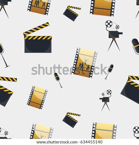 cinema concept seamless pattern
