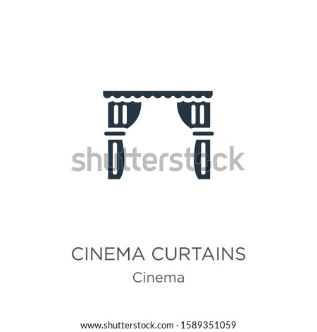 cinema curtains icon vector