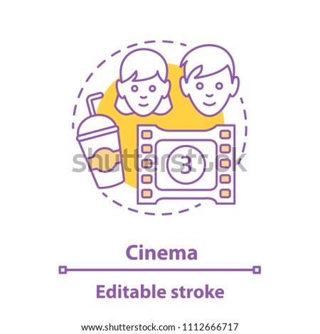 cinema date concept icon
