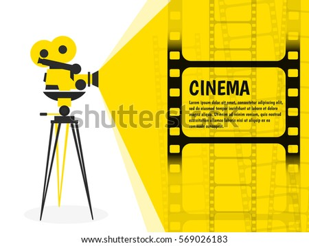 cinema festival poster or flyer template for your design vector illustration