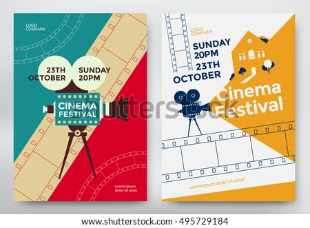 cinema festival poster template