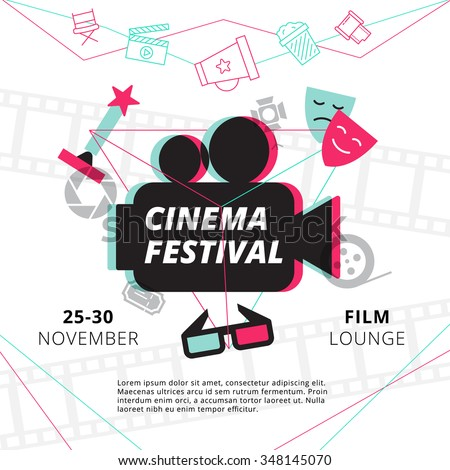 cinema festival poster with