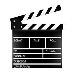 Cinema flap, cinema flap vector, cinema flap isolated