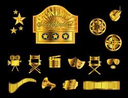 Cinema Icons, metallic gold