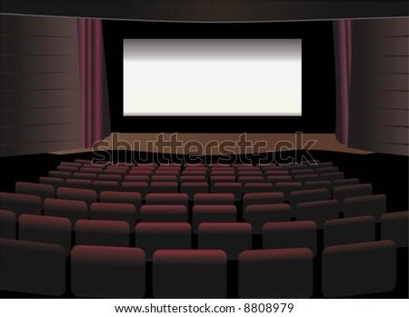 cinema interio vector