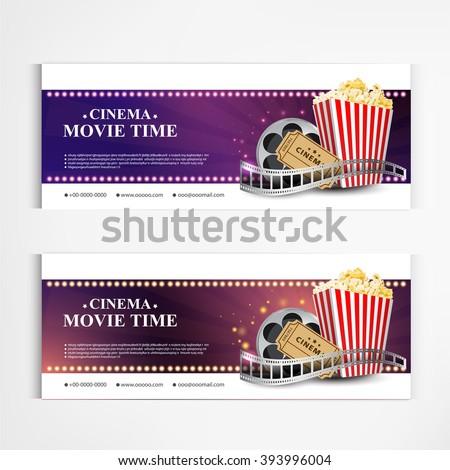 cinema movie poster template modern pattern vector design