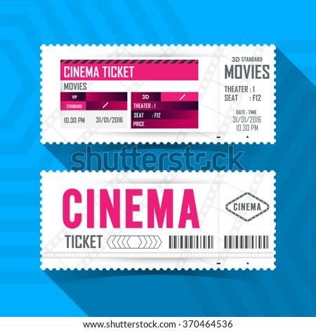 Cinema Movie Ticket Card modern element design.