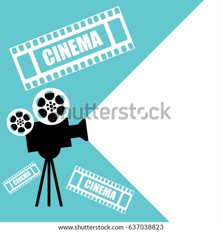 Cinema, movie ticket, movie camera.Vector