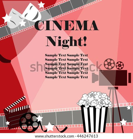 cinema night background flat
