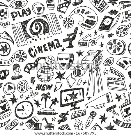 Cinema - seamless vector background