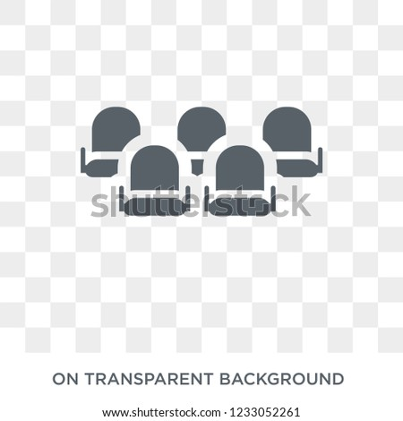 Cinema seat icon. Cinema seat design concept from Entertainment collection. Simple element vector illustration on transparent background.