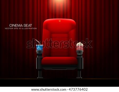 Cinema seat.Theater seat