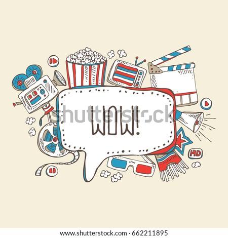 cinema speech bubble with movie
