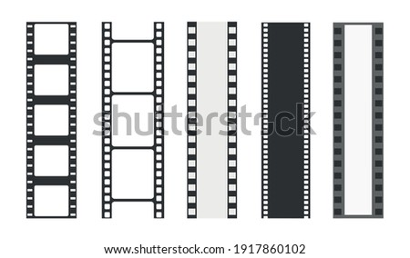 Cinema strip templates. Negative and strip, media filmstrip. Film roll vector, film 35mm, slide