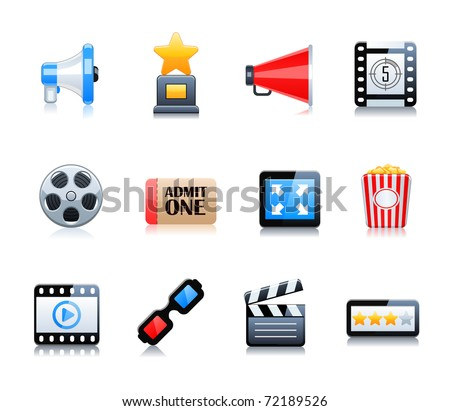 Cinema symbols vector set