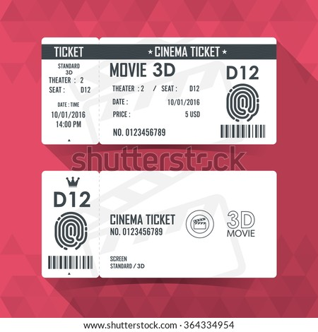 Cinema Ticket Card modern element design
