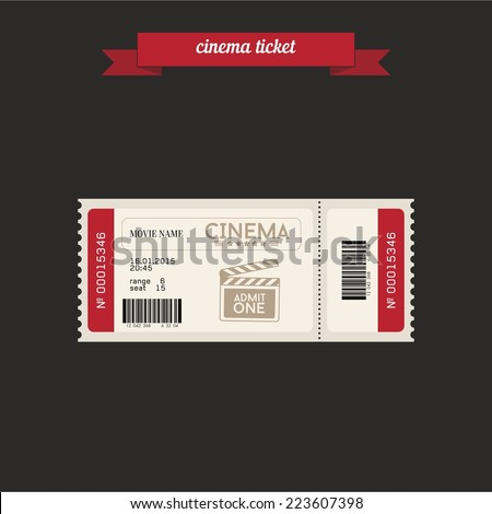cinema ticket flat style