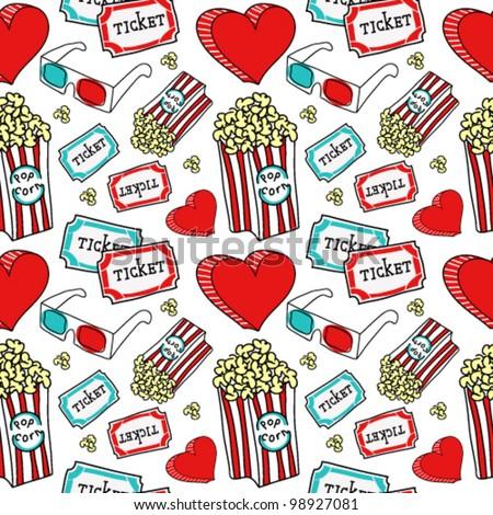 Cinema vector pattern