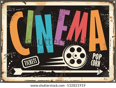 cinema vintage signboard design