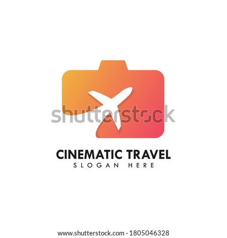 cinematic travel logo  suitable
