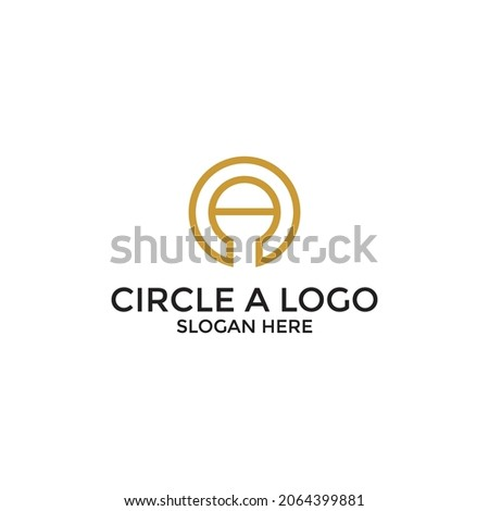 Circle A Letter Logo Design Template
