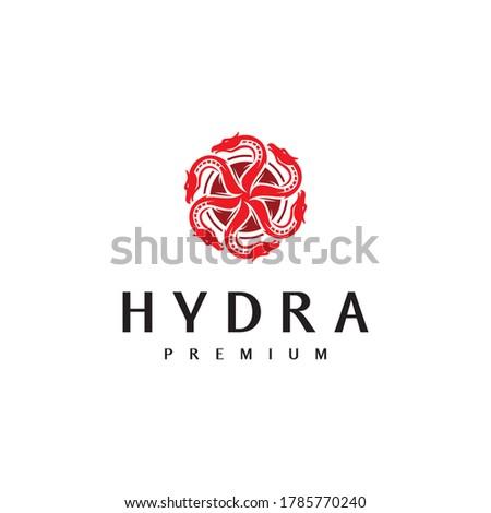 circle and hydra logo vector design template Stok fotoğraf ©