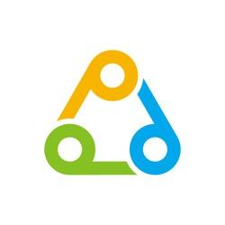 Circle and Triangle vector logo. Icon Symbol.