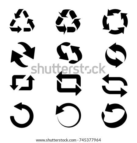 Circle arrow icon. Refresh and reload arrow icon. Rotation vector arrows set. Vector illustartion