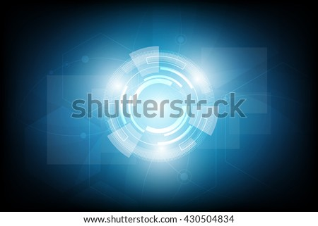 Circle blue abstract futuristic technology  background