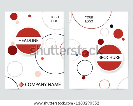 Circle blue cover abstract modern cover book Brochure template, design, annual report, magazine and flyer layout Vector a4 #1183290352