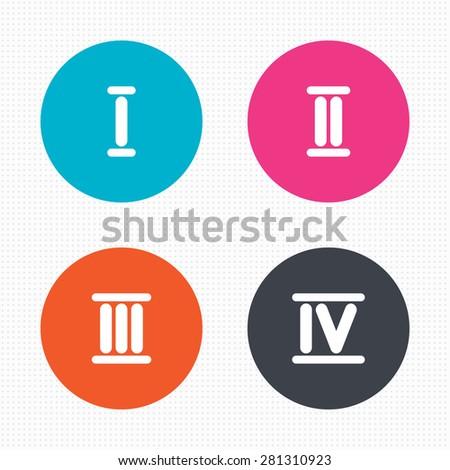 1 4 3 Roman Numerals Roman Numeral Icons 1 2 3