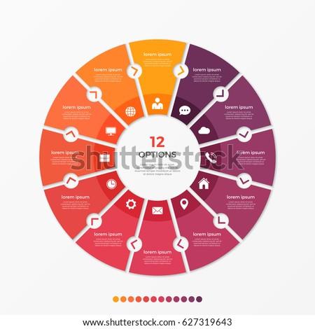 circle chart infographic
