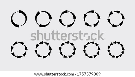 Circle chart section segments set vector diagram segments pie template. Circle segments set. Various number of sectors divide the circle on equal parts. From 2 to 10. Pie chart set. Diagram collection
