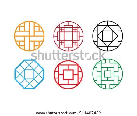 circle chinese pattern window
