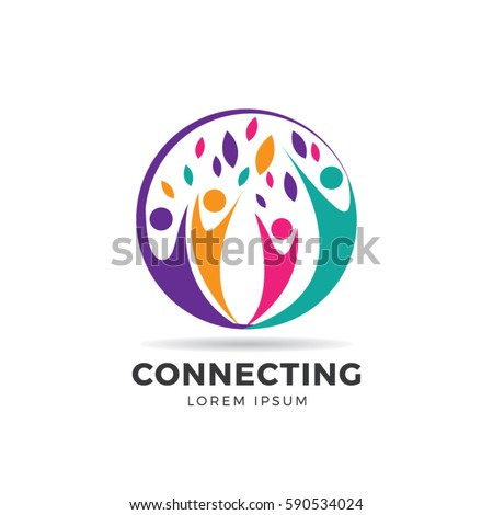 Circle Colorful Community Logo Symbol