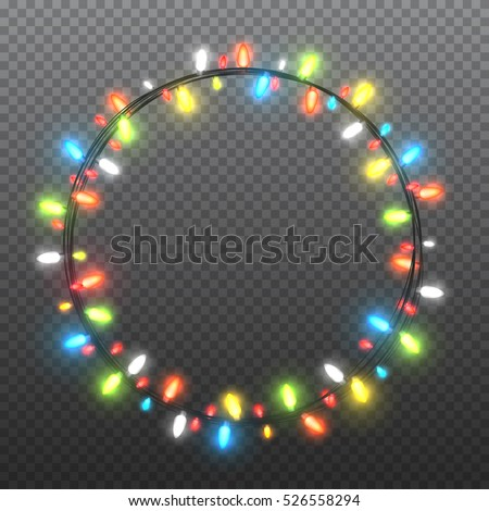 circle colorful garlands