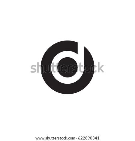 circle d logo  initial logo od