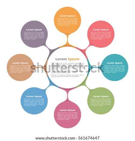 circle diagram with eight elements  infographic template  vector    circle diagram   eight elements  infographic template  vector eps  illustration