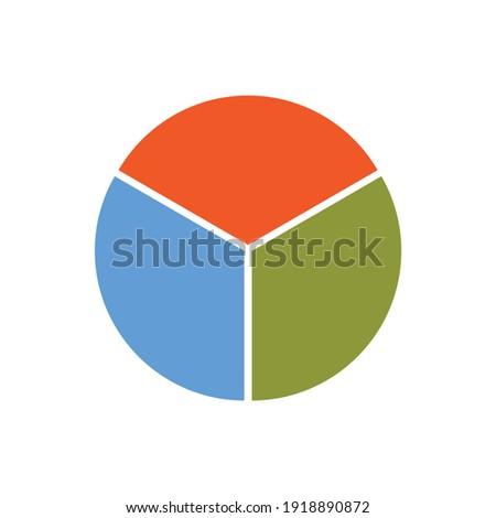 circle divided into three equal segments Photo stock ©