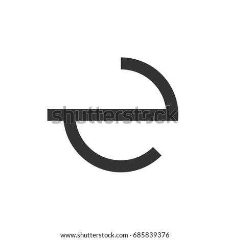 Circle E Letter Logo Template