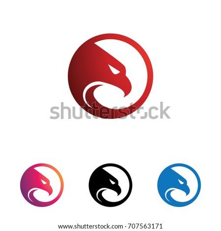 Shutterstock Circle Eagle Hawk Head with Sharp Eye