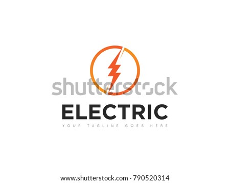 circle electric logo, icon, symbol, design template