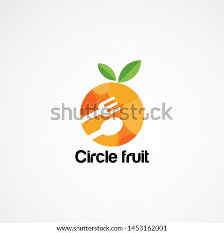 circle food logo vector designs