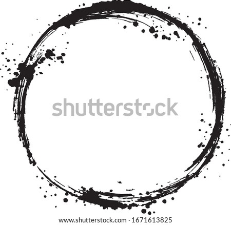 circle frame brush stroke