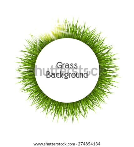 circle frame with green grass