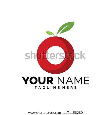 circle fruit logo design