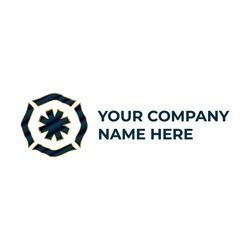 circle futuristic logo design with luxury style. blue and golden luxury logo design