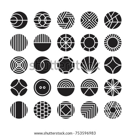 circle geometric vector icon , ornament