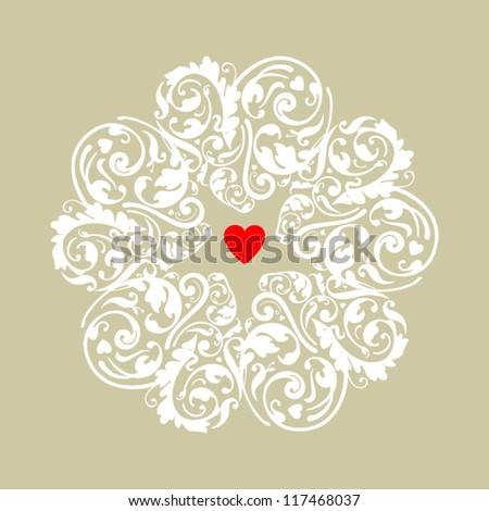 Circle heart ornament